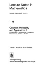 Cover of: Quantum probability and applications II |