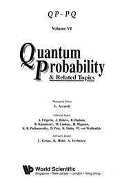 Cover of: Quantum Probability and Related Topics | Luigi Accardi