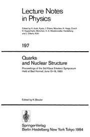 Cover of: Quarks and nuclear structure | K. Bleuler