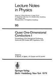 Cover of: Quasi one-dimensional conductors | International Conference on Quasi-One Dimensional Conductors (1978 Dubrovnik)