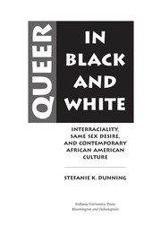 Cover of: Queer in black and white | Stefanie K. Dunning