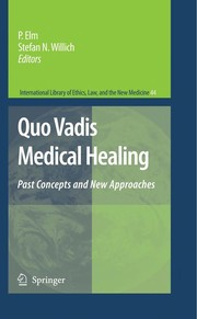 Cover of: Quo Vadis Medical Healing
