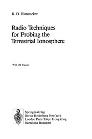 Cover of: Radio Techniques for Probing the Terrestrial Ionosphere | Robert D. Hunsucker