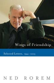Cover of: Wings of friendship | Ned Rorem