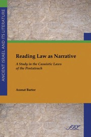 Cover of: Reading law as narrative