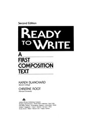 Cover of: Ready to write | Karen Lourie Blanchard