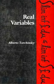 Cover of: Real variables | Alberto Torchinsky