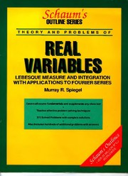 Cover of: Theory and problems of real variables