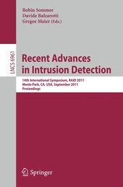 Cover of: Recent Advances in Intrusion Detection | Robin Sommer