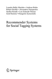 Cover of: Recommender Systems for Social Tagging Systems | Leandro Balby Marinho