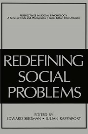 Cover of: Redefining social problems | Edward Seidman, Julian Rappaport