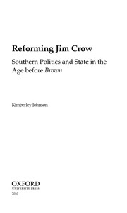 Cover of: Reforming Jim Crow | Kimberley S. Johnson