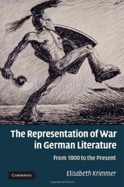 Cover of: The representation of war in German literature | Elisabeth Krimmer