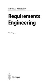 Cover of: Requirements engineering | Linda Macaulay