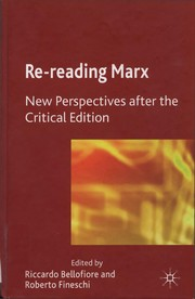 Cover of: Re-reading Marx |