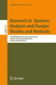 Cover of: Research in Systems Analysis and Design: Models and Methods