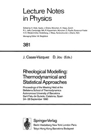 Cover of: Rheological modelling |