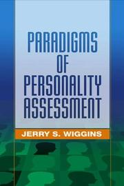 Cover of: Paradigms of Personality Assessment | Jerry S. Wiggins