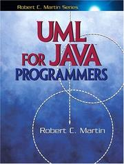 Cover of: UML for Java programmers | Martin, Robert C.