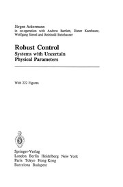 Cover of: Robust Control | J. Ackermann