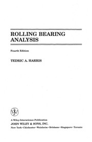 Cover of: Rolling bearing analysis | Tedric A. Harris