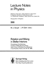 Cover of: Rotation and mixing in stellar interiors