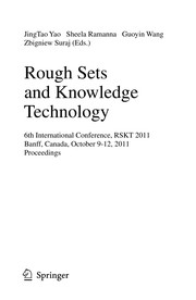 Cover of: Rough Sets and Knowledge Technology | JingTao Yao