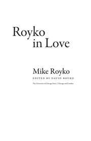 Cover of: Royko in love