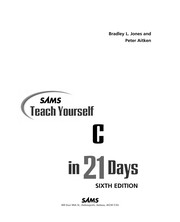 Cover of: Sams teach yourself C in 21 days | Bradley Jones