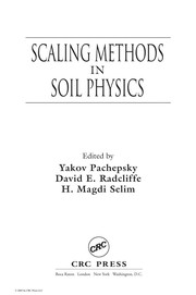 Cover of: Scaling methods in soil physics |