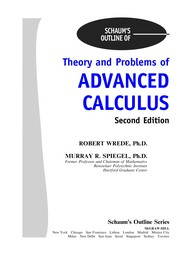 Cover of: Schaum's outline of theory and problems of advanced calculus