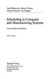 Cover of: Scheduling in Computer and Manufacturing Systems | Jacek BЕ'azewicz