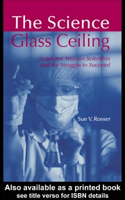 Cover of: The Science Glass Ceiling | Sue V. Rosser
