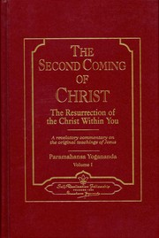 Cover of: The Second Coming of Christ | Paramahansa Yogananda