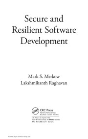 Cover of: Secure and resilient software development