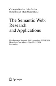 Cover of: The Semantic Web: Research and Applications | John Davies