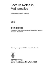 Cover of: Semigroups