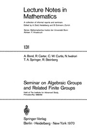 Cover of: Seminar on algebraic groups and related finite groups