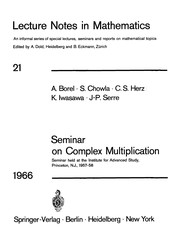 Cover of: Seminar on complex multiplication