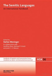 Cover of: Semitic languages | Stefan Weninger