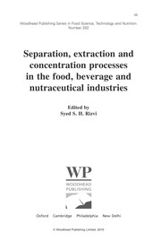 Cover of: Separation, extraction and concentration processes in the food, beverage and nutraceutical industries | S. S. H. Rizvi