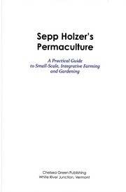 Cover of: Sepp Holzer's permaculture | Sepp Holzer