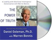 Cover of: The Power of Truth | Daniel Goleman