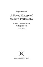 Cover of: A short history of modern philosophy | Roger Scruton