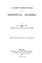 Cover of: Short introduction to graphical algebra | Hs Hall