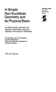Cover of: A simple non-Euclidean geometry and its physical basis | I. M. IНЎAglom