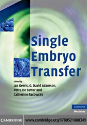 Cover of: Single embryo transfer |