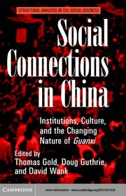 Cover of: Social connections in China |