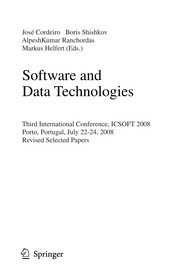 Cover of: Software and Data Technologies | JosГ© Cordeiro