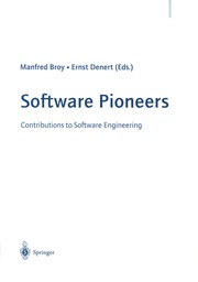 Cover of: Software Pioneers | Manfred Broy